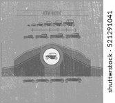 vintage infographic of heavy... | Shutterstock .eps vector #521291041