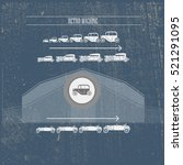 vintage infographic of heavy... | Shutterstock .eps vector #521291095