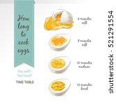 set of half  sliced eggs... | Shutterstock .eps vector #521291554