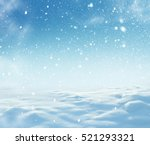 christmas background with snow... | Shutterstock . vector #521293321