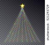 christmas light tree  string... | Shutterstock .eps vector #521293729