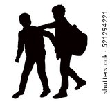 back to school kids playing ... | Shutterstock .eps vector #521294221