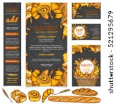bakery products restaurant menu ... | Shutterstock .eps vector #521295679