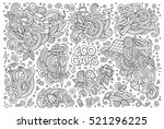 line art vector hand drawn... | Shutterstock .eps vector #521296225