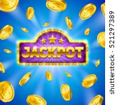 jackpot winner background.... | Shutterstock .eps vector #521297389