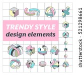 set of vector geometrical... | Shutterstock .eps vector #521298661