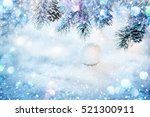 christmas decoration with... | Shutterstock . vector #521300911
