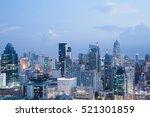 bangkok city scape | Shutterstock . vector #521301859