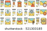 Email Vector Line Icon Set...