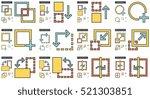content edition vector line... | Shutterstock .eps vector #521303851