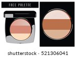 face palette. vector...   Shutterstock .eps vector #521306041