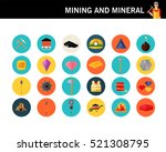 mining and mineral concept flat ... | Shutterstock .eps vector #521308795