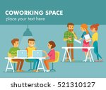 young people working in co... | Shutterstock .eps vector #521310127