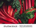 Rhubarb Fresh Red And Green