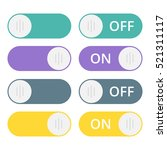set of colorful toggle switch...