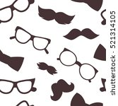 mustaches seamless pattern  | Shutterstock .eps vector #521314105