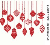 christmas ornaments christmas... | Shutterstock .eps vector #521318545