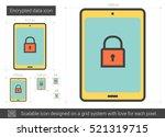 encrypted data vector line icon ...   Shutterstock .eps vector #521319715