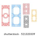 rectangle chinese window with... | Shutterstock .eps vector #521320339