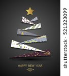 happy new year template.... | Shutterstock .eps vector #521323099