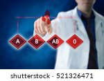 blood type medical concept with ... | Shutterstock . vector #521326471