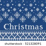 christmas fairisle design... | Shutterstock .eps vector #521328091