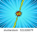Comic book versus template background, classic pop-art style, battle intro, halftone print texture | Shutterstock vector #521328379
