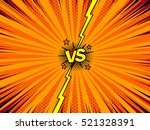 comic book versus template... | Shutterstock .eps vector #521328391