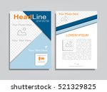 brochure design layout with... | Shutterstock .eps vector #521329825