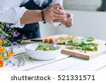 chef cooks meal | Shutterstock . vector #521331571
