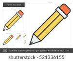 pencil tool vector line icon... | Shutterstock .eps vector #521336155