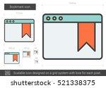 bookmark vector line icon... | Shutterstock .eps vector #521338375