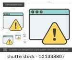 alert window vector line icon... | Shutterstock .eps vector #521338807