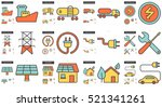 ecology vector line icon set... | Shutterstock .eps vector #521341261