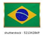 brazilian national official... | Shutterstock . vector #521342869