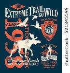 Alaska Extreme Trail  Vector...