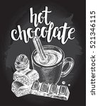 hot chocolate in a cup with... | Shutterstock .eps vector #521346115