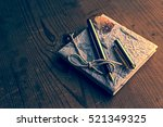 old diary memories with... | Shutterstock . vector #521349325