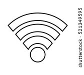 wifi connection isolated icon... | Shutterstock .eps vector #521349595