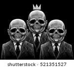 many skeletons skull office... | Shutterstock . vector #521351527