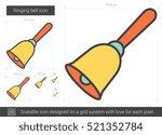 ringing bell vector line icon...   Shutterstock .eps vector #521352784