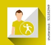 athlete man tennis sport... | Shutterstock .eps vector #521352949