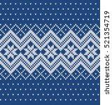 winter sweater design. seamless ... | Shutterstock .eps vector #521354719