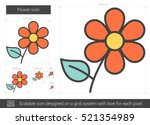 Flower Vector Line Icon...