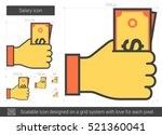 salary vector line icon... | Shutterstock .eps vector #521360041