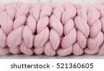 Large Folded Coral Knit Blanke...