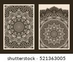 set of 2 wedding invitation or... | Shutterstock .eps vector #521363005