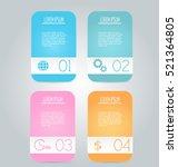 business infographics tabs...   Shutterstock .eps vector #521364805