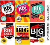 flat design sale stickers.... | Shutterstock .eps vector #521365504