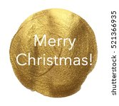 merry christmas golden circle... | Shutterstock .eps vector #521366935